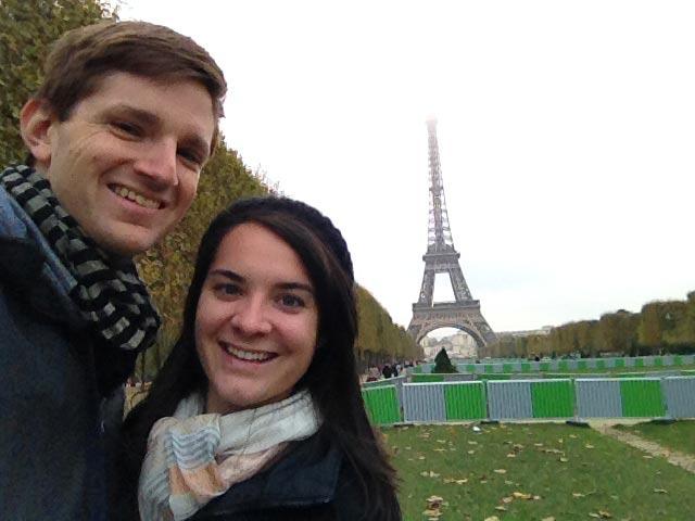 Elisabeth and myself in Paris, France