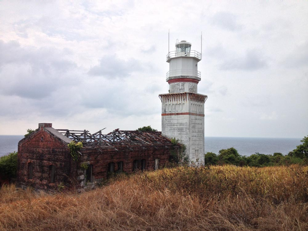 While in the philippines, we took a private boat out to an island and visited this run down lighthouse. We were the only people on the whole island
