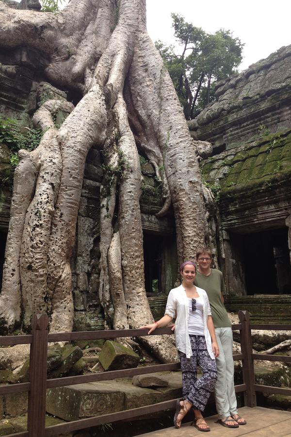 Elisabeth and I at Ankor Wat, Cambodia