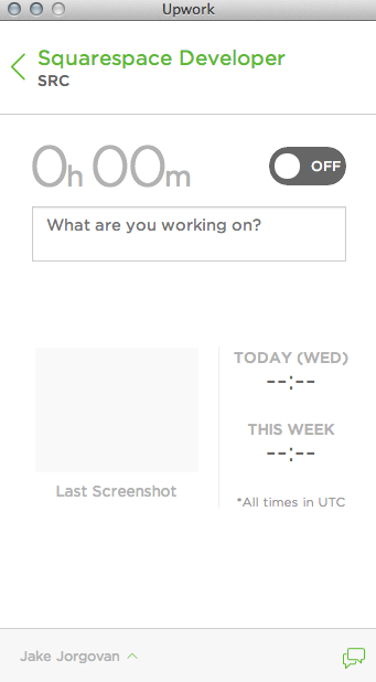 Upwork's hourly tracking application