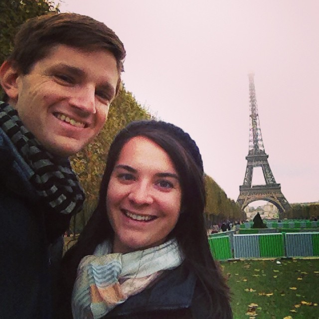 Thats my wife elisabeth and I in paris