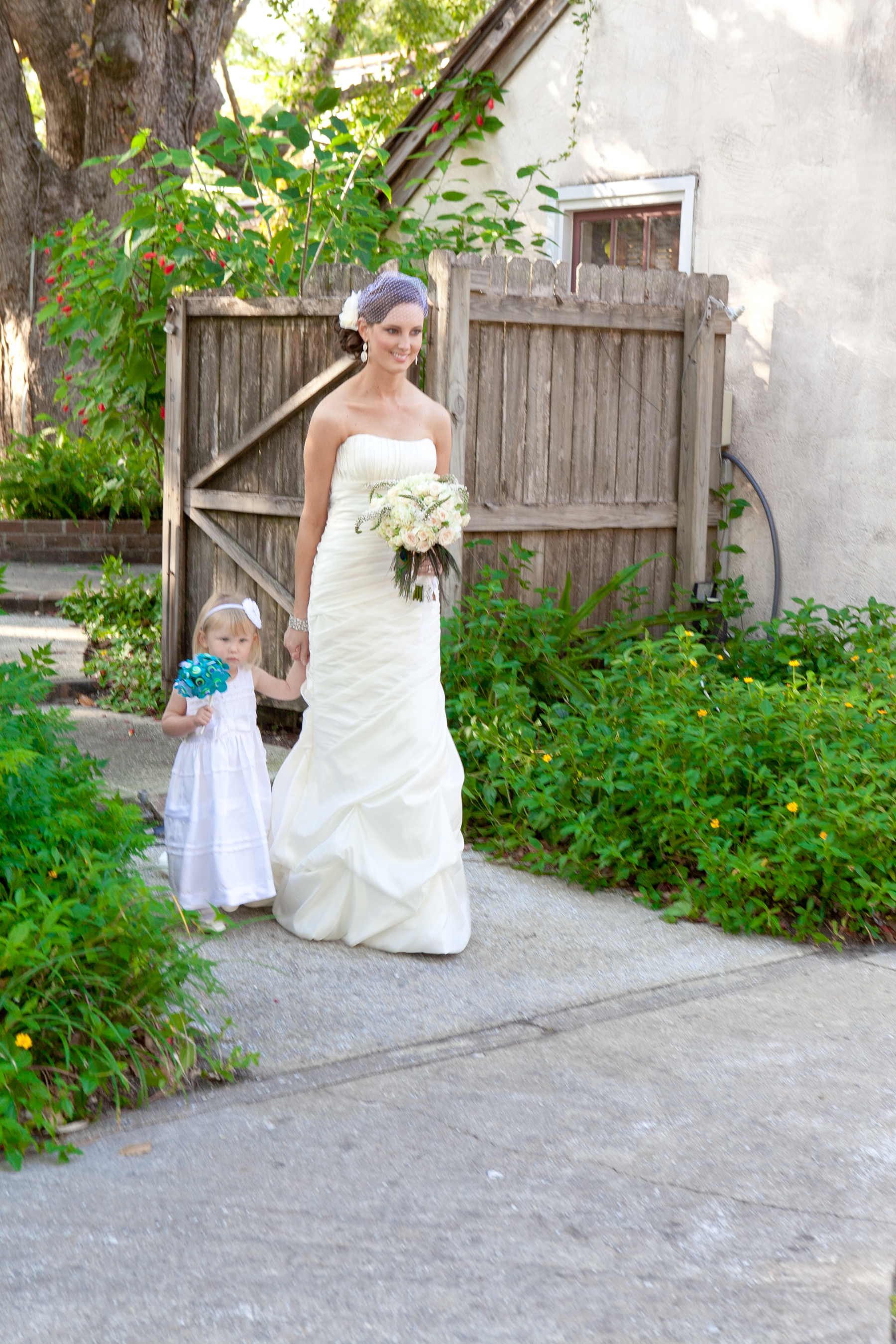 Madilyn practiced being the flower girl for almost a year. At this moment she quit her job and decided to walk me down the aisle. It is one of the best memories of my entire life.