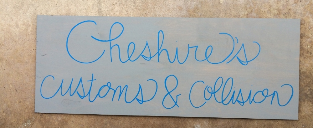 I enjoyed making this sign for a shop in St, Augustine,