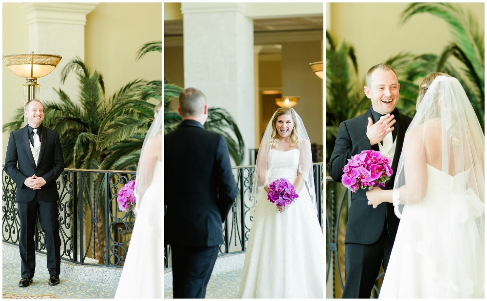 Is this not the cutest first look ever?! You can't help but smile when these two are around.