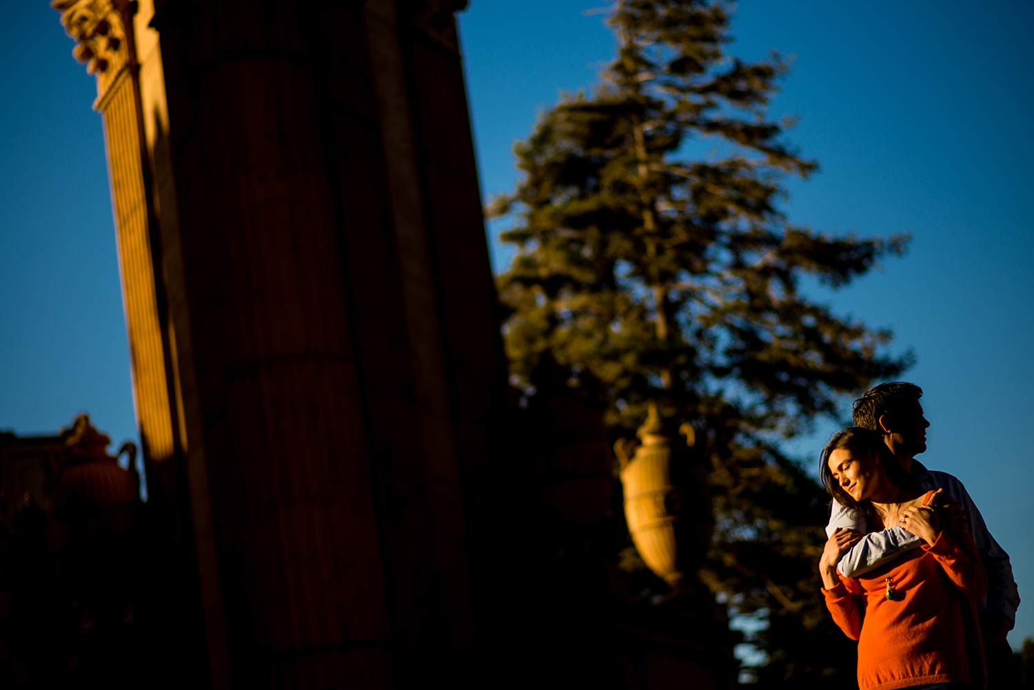 Palace of Fine Arts engagement session in San Francisco, CA