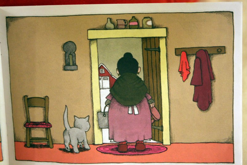 Detail from Pancakes for Breakfast  byTomie dePaola.