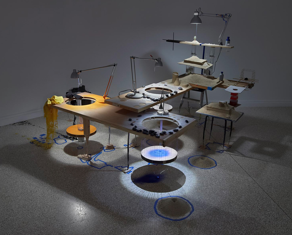 Triple Point (Eclipse) , 2013. © Sarah Sze, courtesy of the artist, Tanya Bonakdar Gallery, New York, and Victoria Miro Gallery, London.