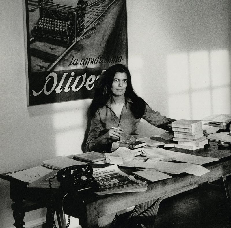 Susan Sontag. All photos by Jill Krementz