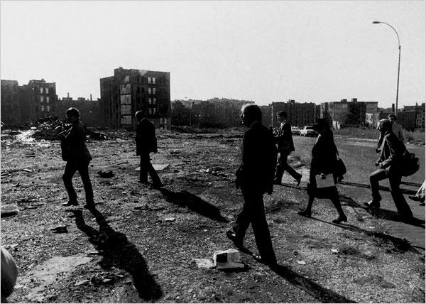 President Jimmy Carter touring the Bronx on Oct. 5, 1977. Photo: Teresa Zabala/The New York Times