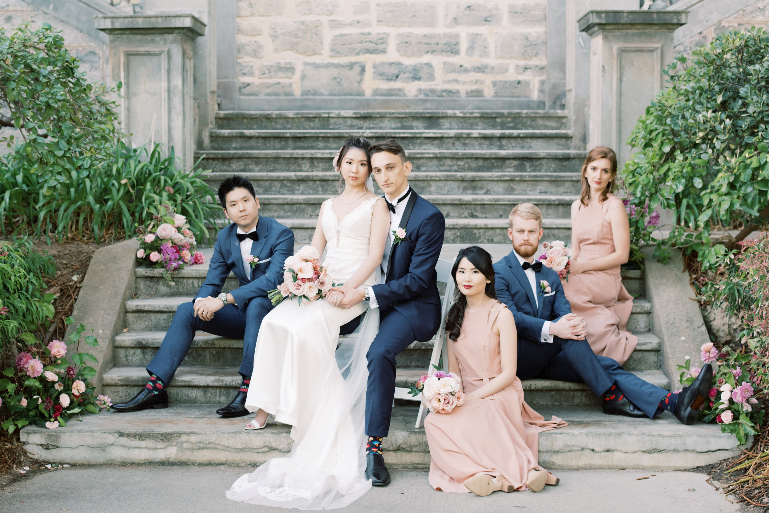 bridal group portrait vogue style perth