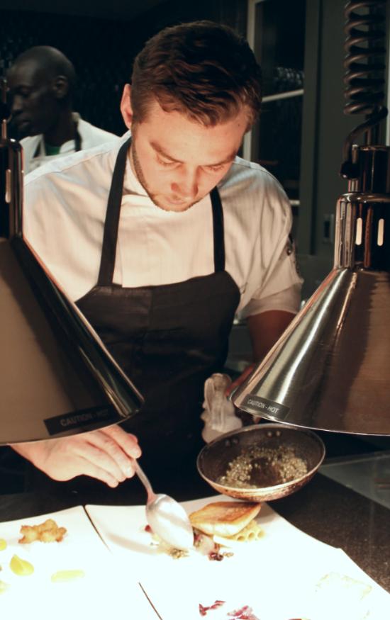 Chef Barton at Work
