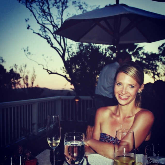 Sunset dining on the terrace of El Encanto.
