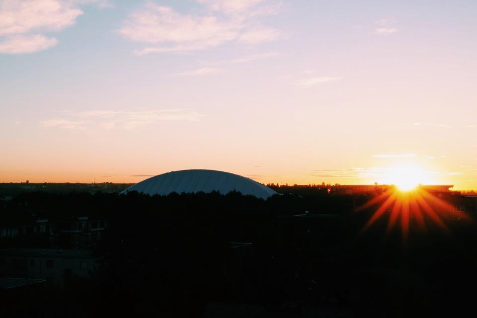 September sunrise over Stampede park.