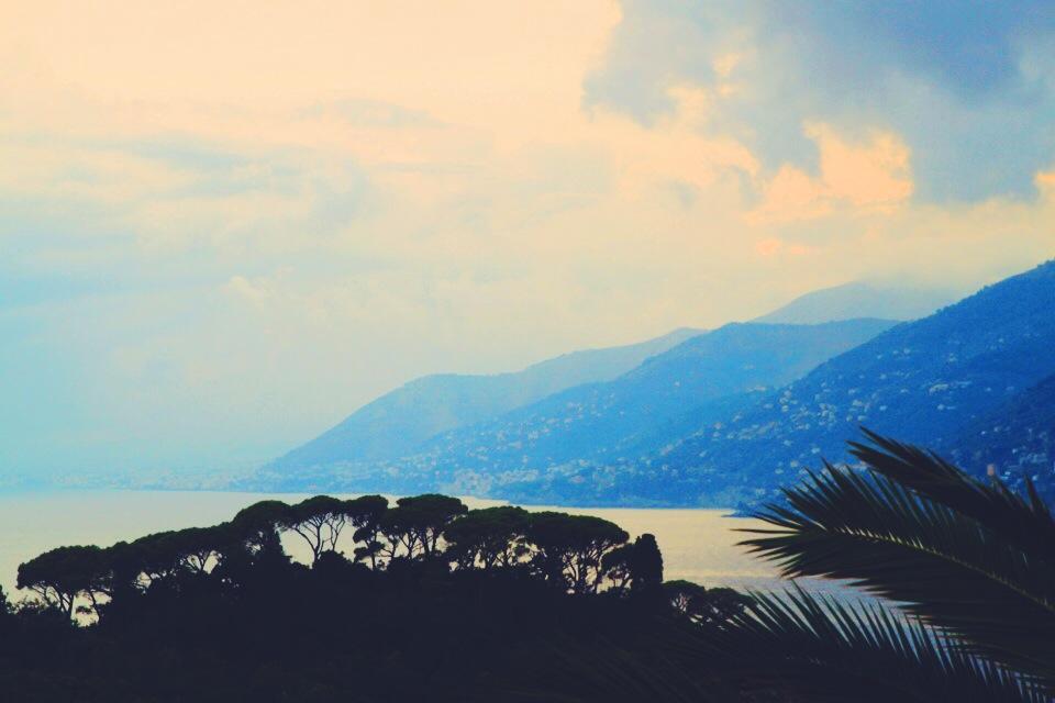 View from Villa Rosmarino at dusk.
