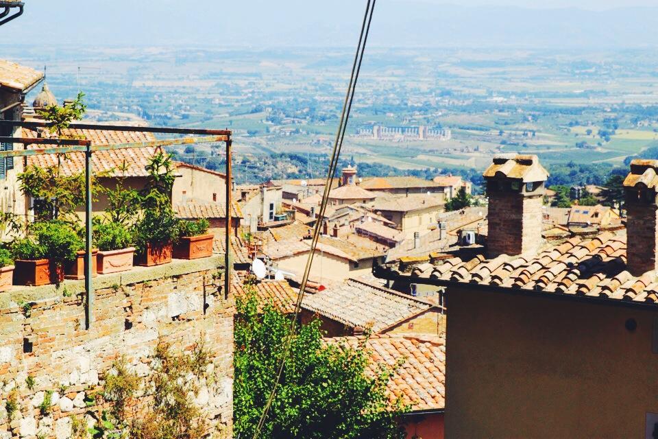 Rooftops of Montepulciano.