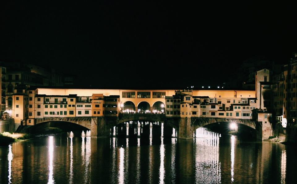 Ponte Vecchio at Nightfall.