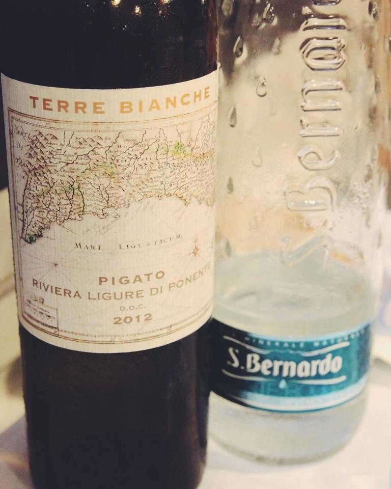 Local wine varietal: Pigato at La Cucina di Nonna Nina, Camogli.