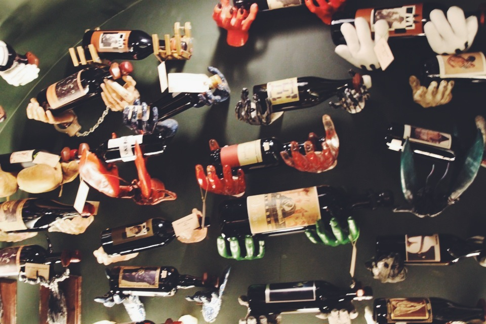 The  Sine Qua Non  Wall display at Hedonism Wines