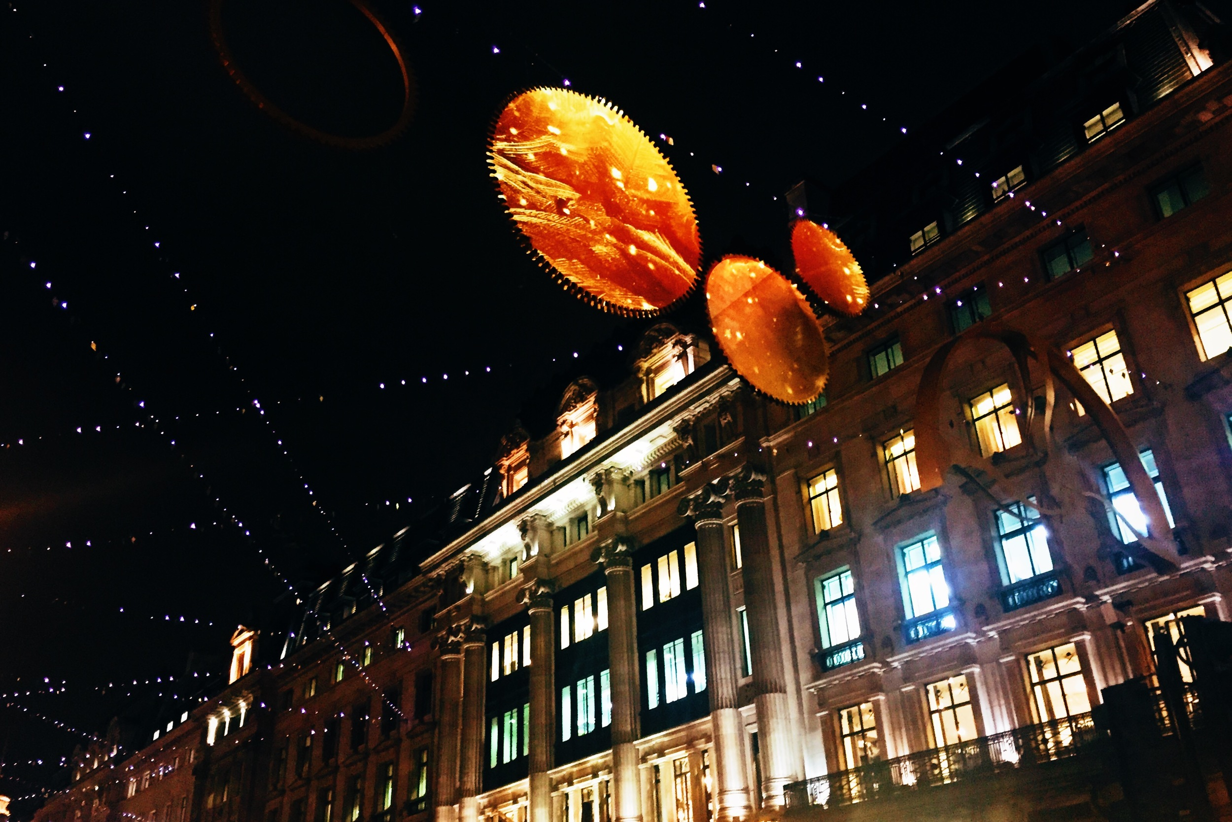 Christmas lights of  Regent Street , West End