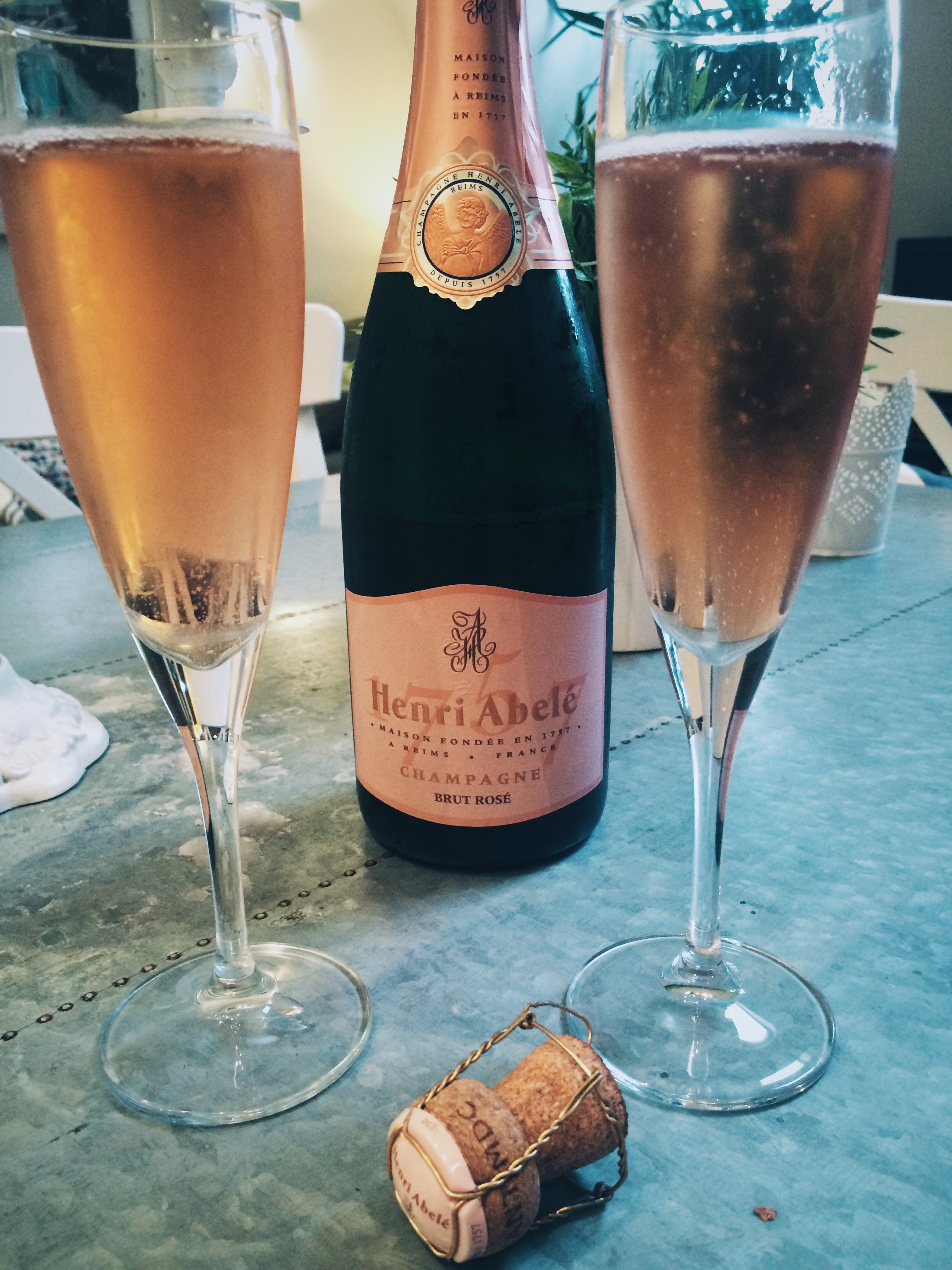 Christmas Day Bubbles:  Henri Abelé Brut Rosé , a new favorite.
