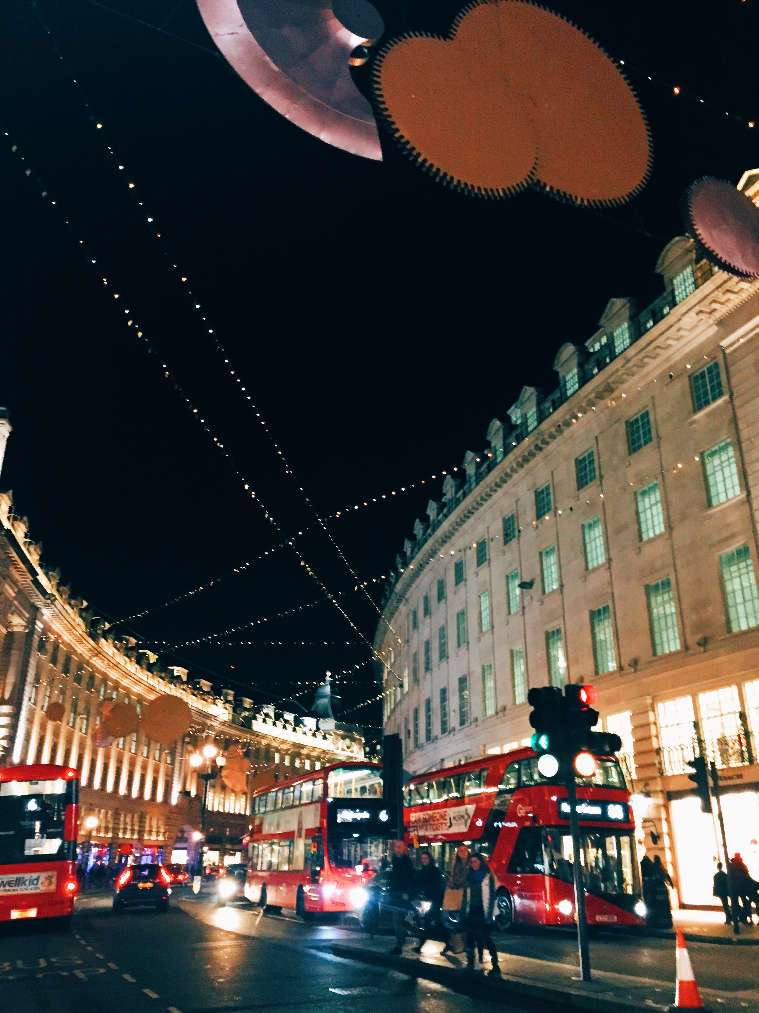 Christmas Lights,  Piccadilly Circus .