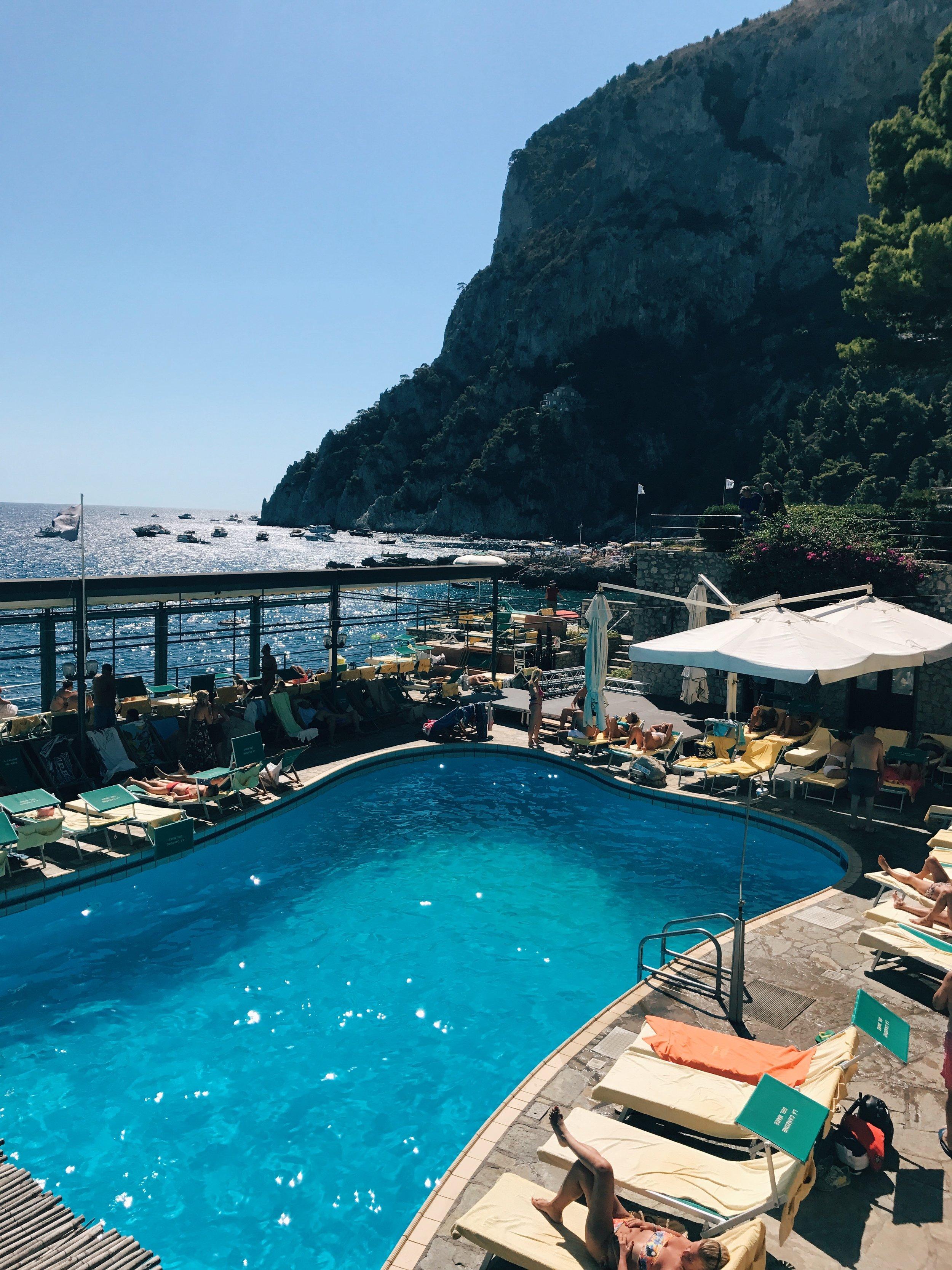 Pool at  La Cazone del Mare .