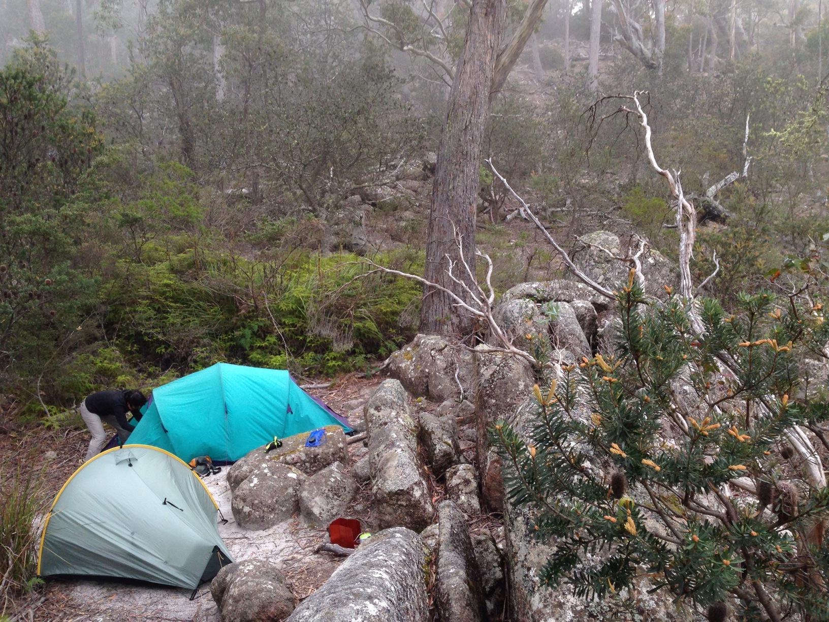 Overnight camp - Freycinet Peninsula 2014