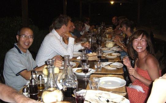 Dinner time at Fattoria Voltrona.© Eileen Hsieh