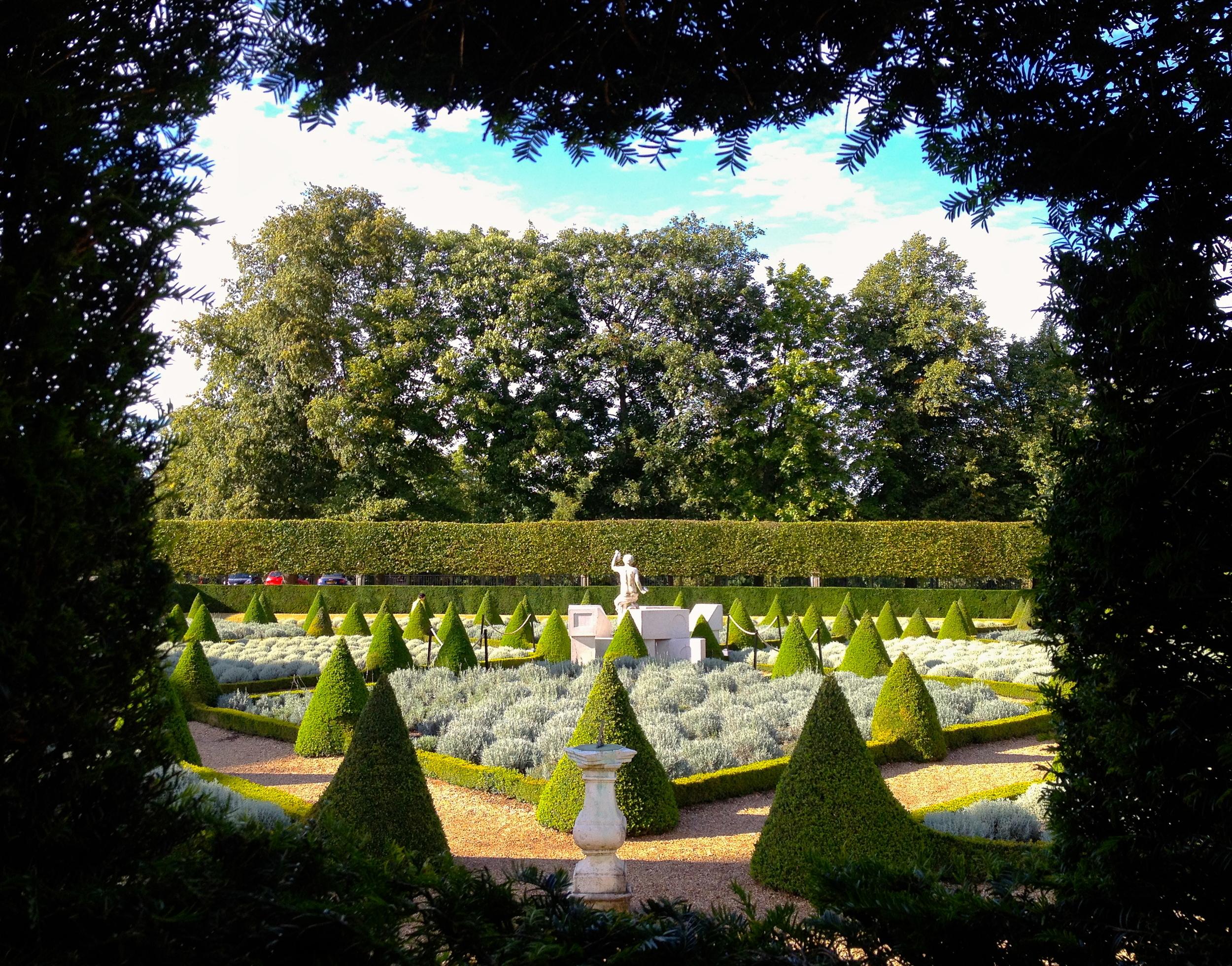 Pleasing, symmetrical design is also found in theCherry Garden.   © Eileen Hsieh