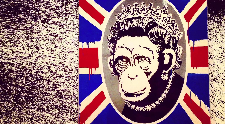 """""""Monkey Queen""""- Banksy.© Eileen Hsieh"""