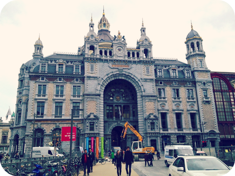 Antwerp Central Station is considered one of the most beautiful train stations in the world. © Eileen Hsieh