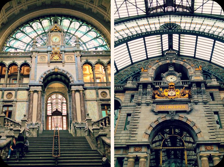Sumptuous decor inside Antwerp Central Station.© Eileen Hsieh