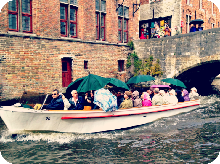 Some of the best views of Bruges is from the river. © Eileen Hsieh