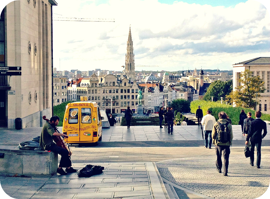 Overlooking Brussels' Lower Town.© Eileen Hsieh