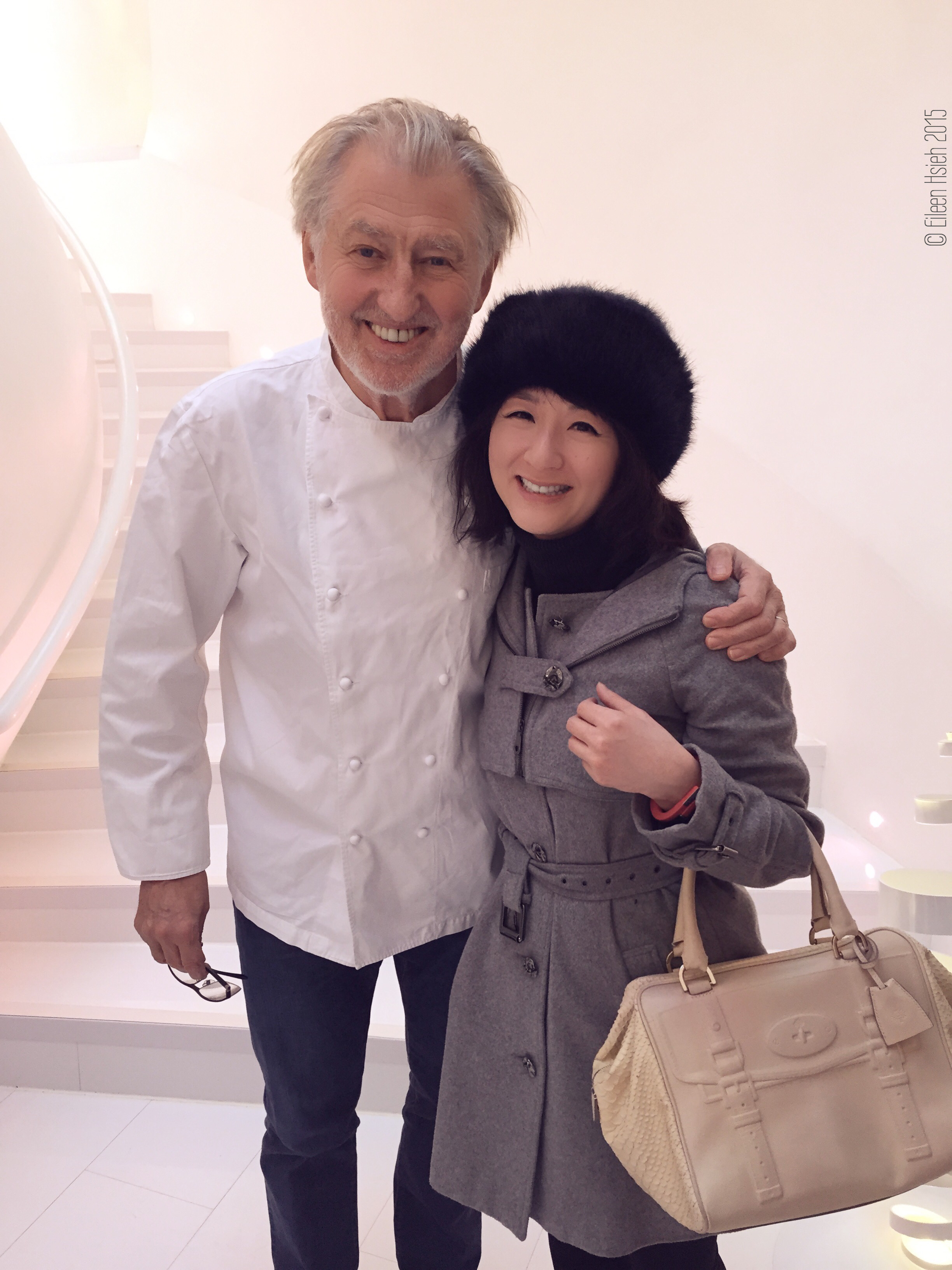 Meeting master chef and creator of Sketch, Pierre Gagnaire. 碰上了來倫敦查勤的 Sketch 米其林名廚 Pierre Gagnaire。   © Eileen Hsieh