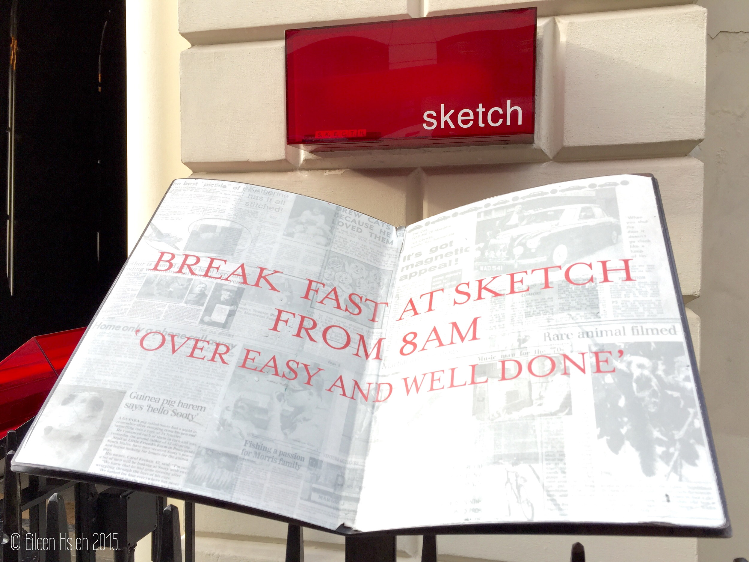Sketch London entrance menu sign follow that bug followthatbug