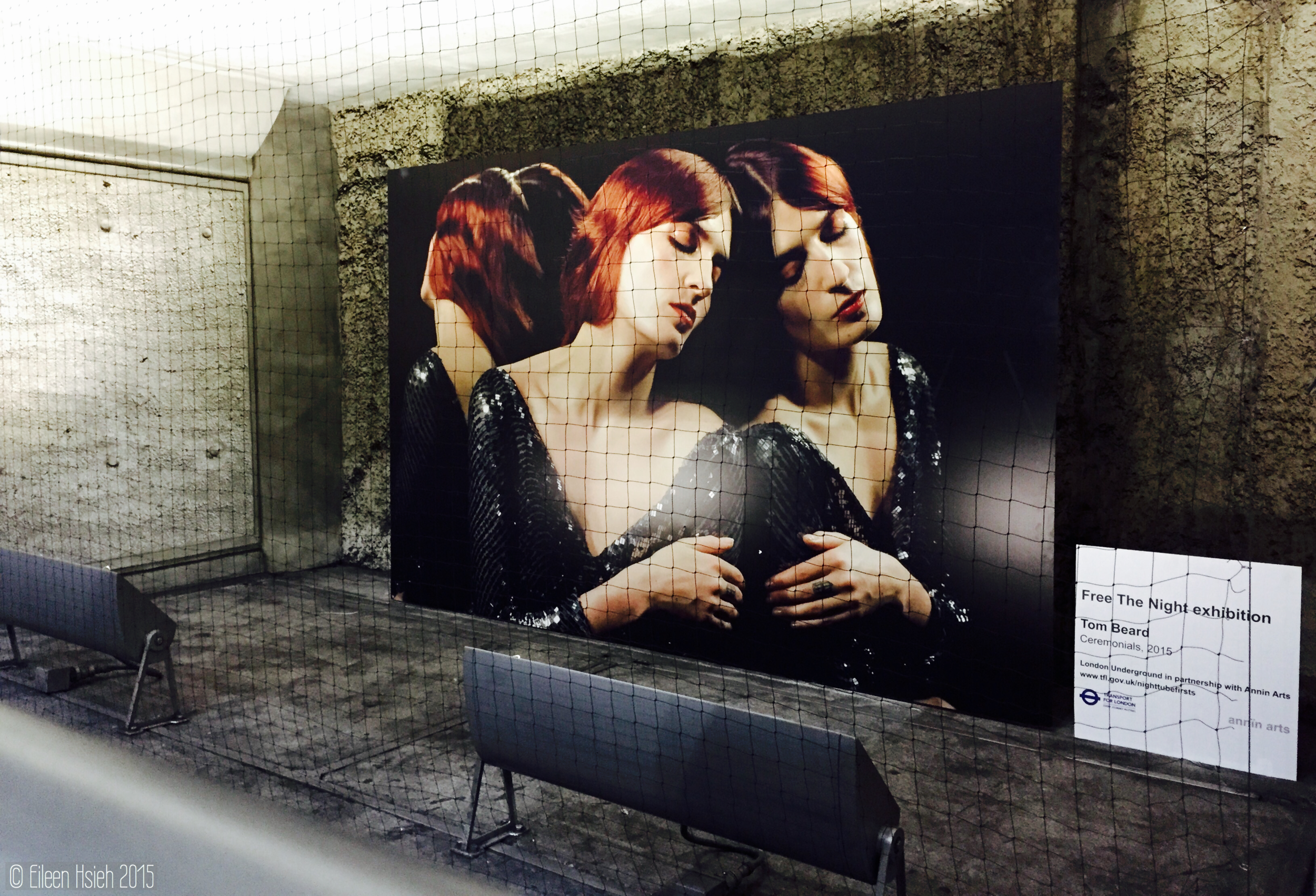 Tom Beard -Ceremonials (2011), one of the 24 large-scale photographic works on displayed at Westminster Underground Station. © Eileen Hsieh