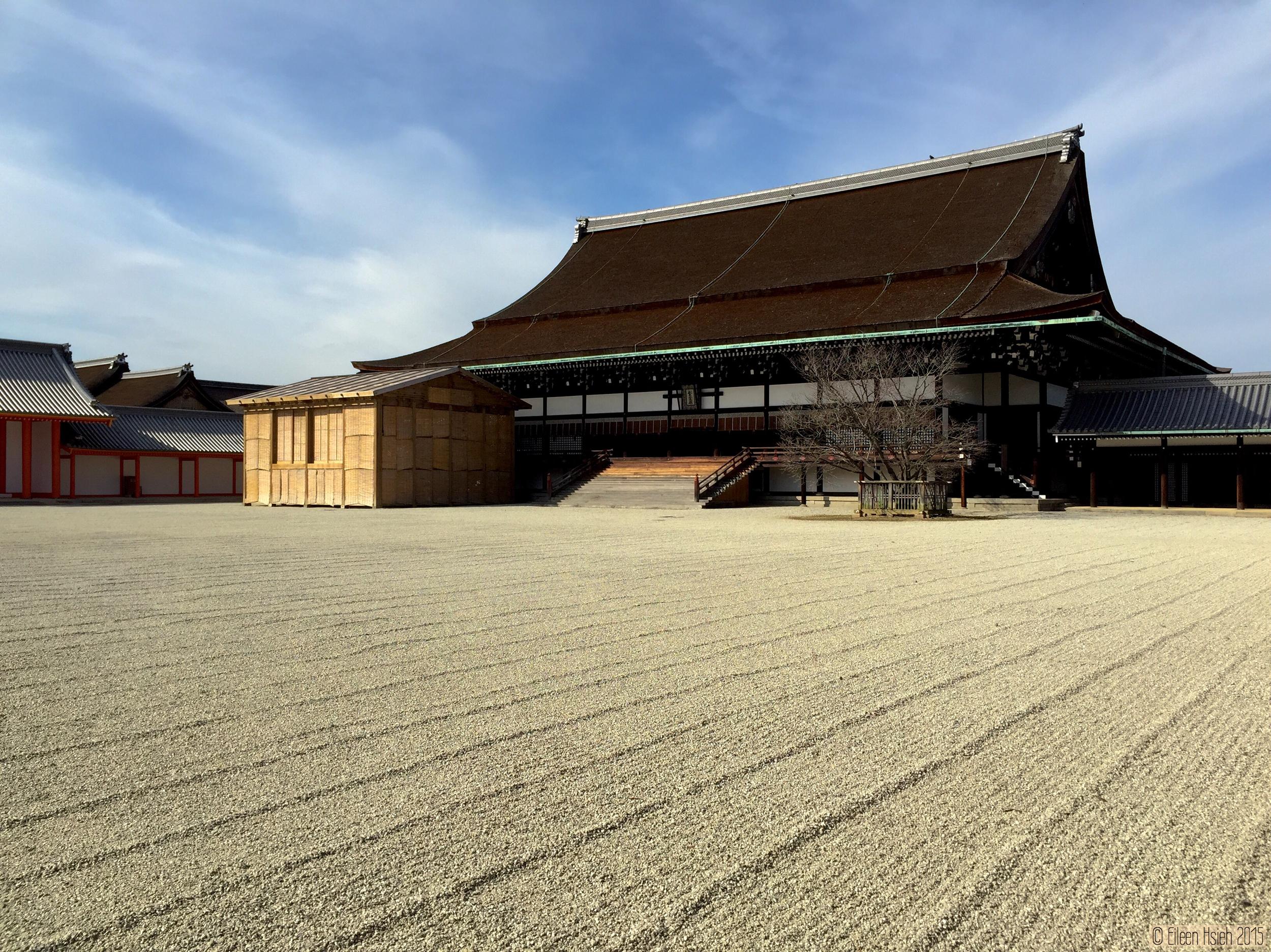 「紫宸殿」為正殿,是天皇即位和接受朝賀的地方。© Eileen Hsieh