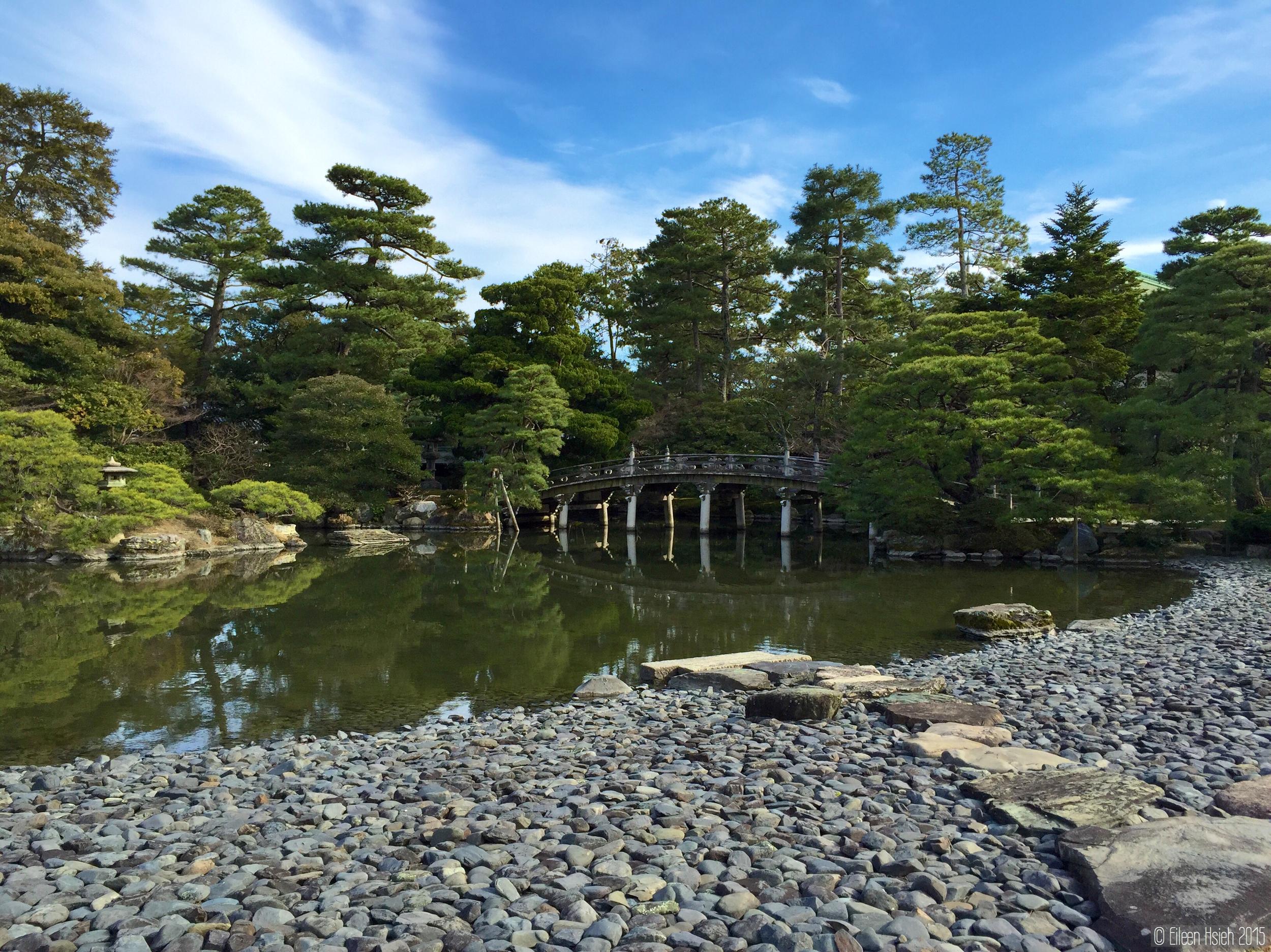位於小御所正前方的「御池庭」。  © Eileen Hsieh