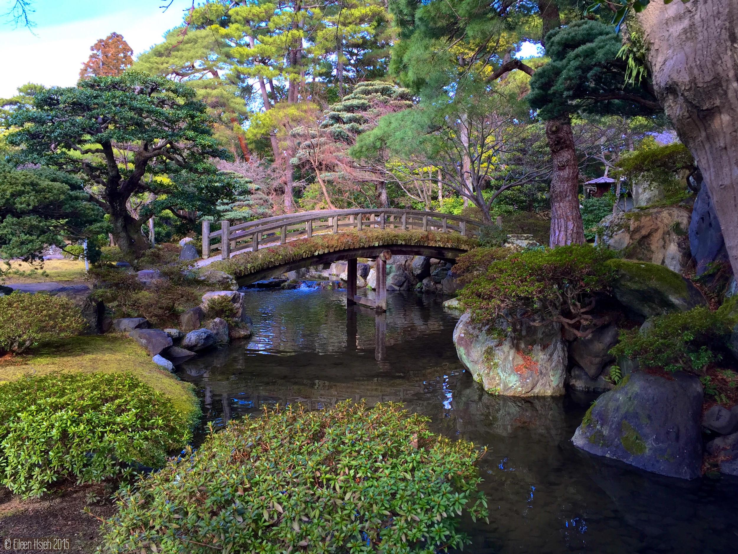 「御池庭」迴游式庭園。© Eileen Hsieh