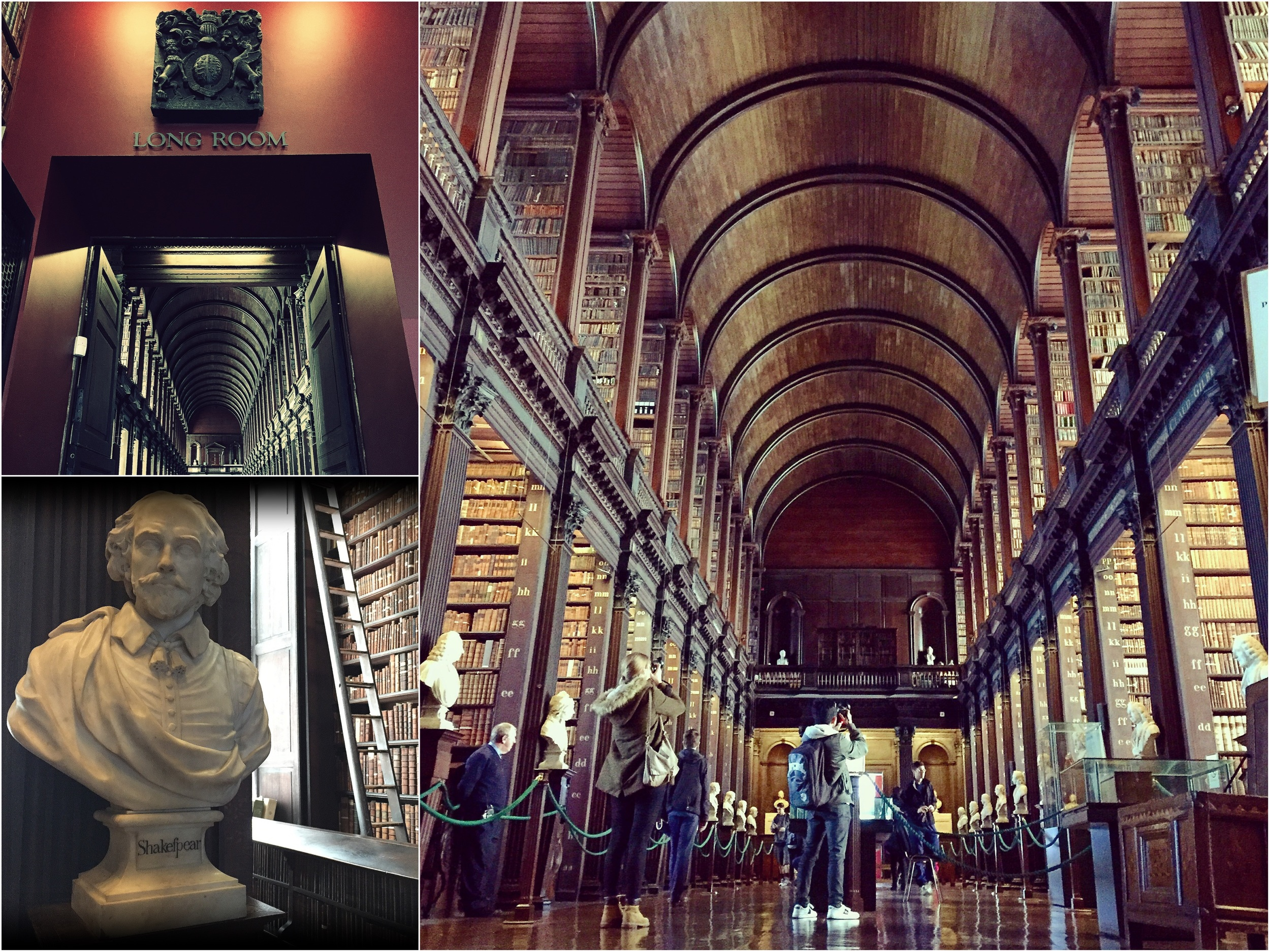 Checking out some old tomes at Trinity College Library's gorgeous Long Room.