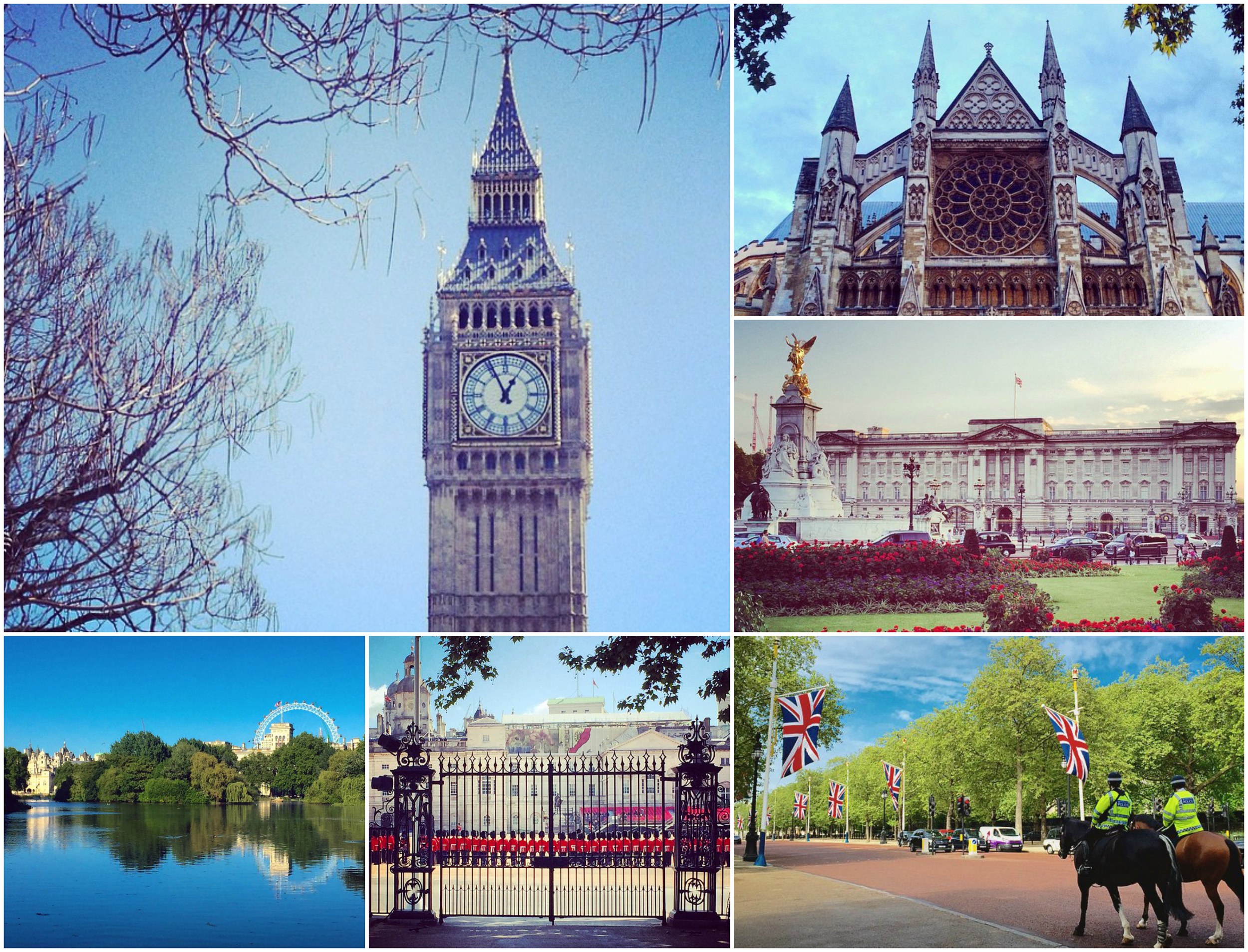 Big Ben, Buckingham Palace, Westminster Abbey and St James's Park are just some of the popular attractions within a short walk from Westminster tube station. (Images: Eileen Hsieh)