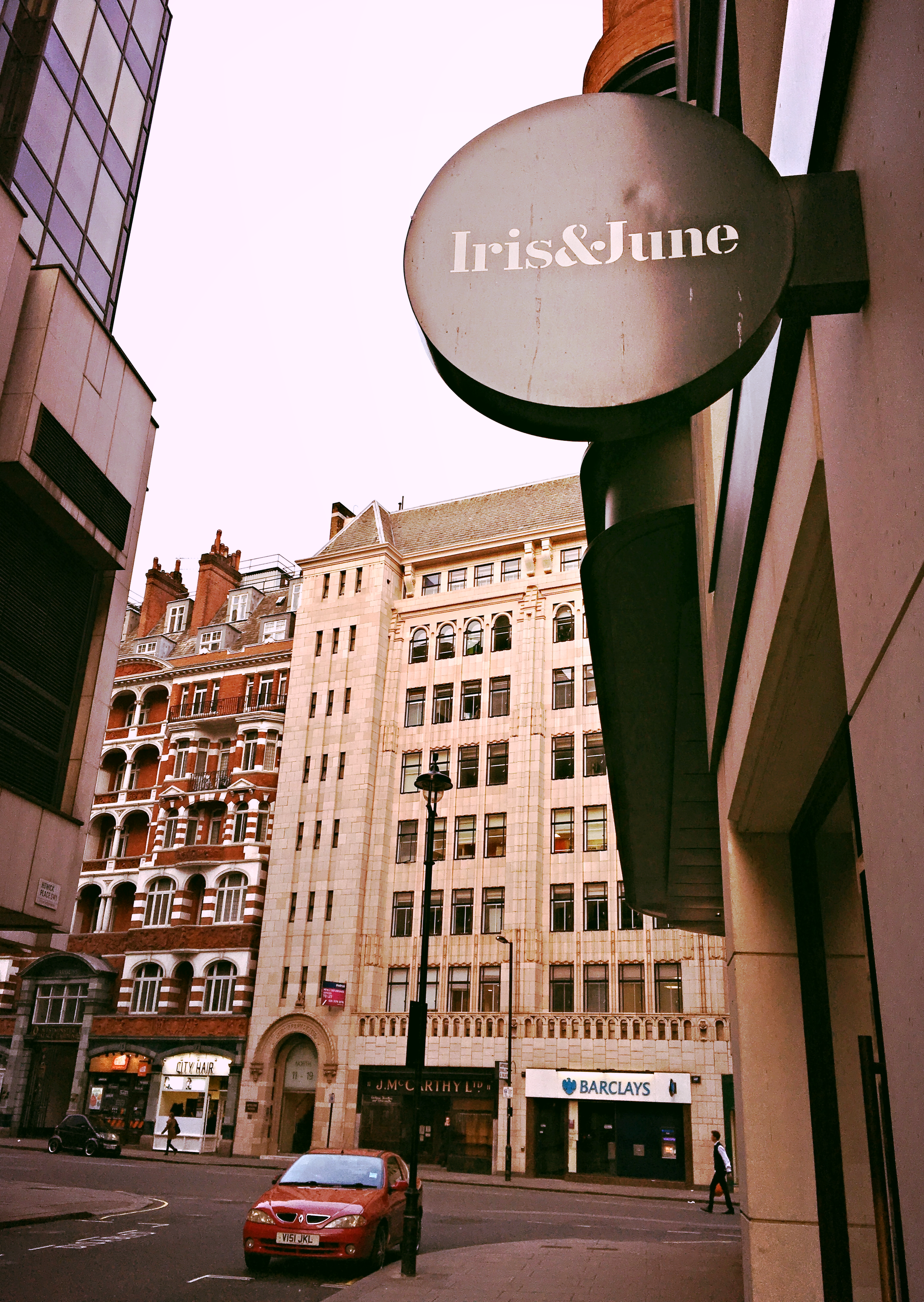 The cafe is opposite the back entrance of House of Fraser department store. (Image: Eileen Hsieh)
