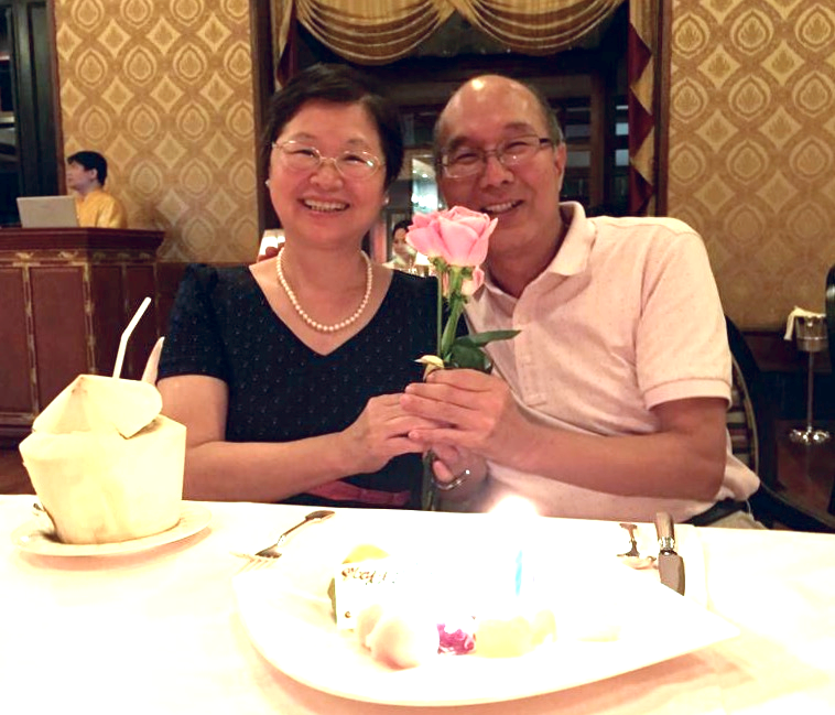 Cake and roses for the happy couple. © Eileen Hsieh
