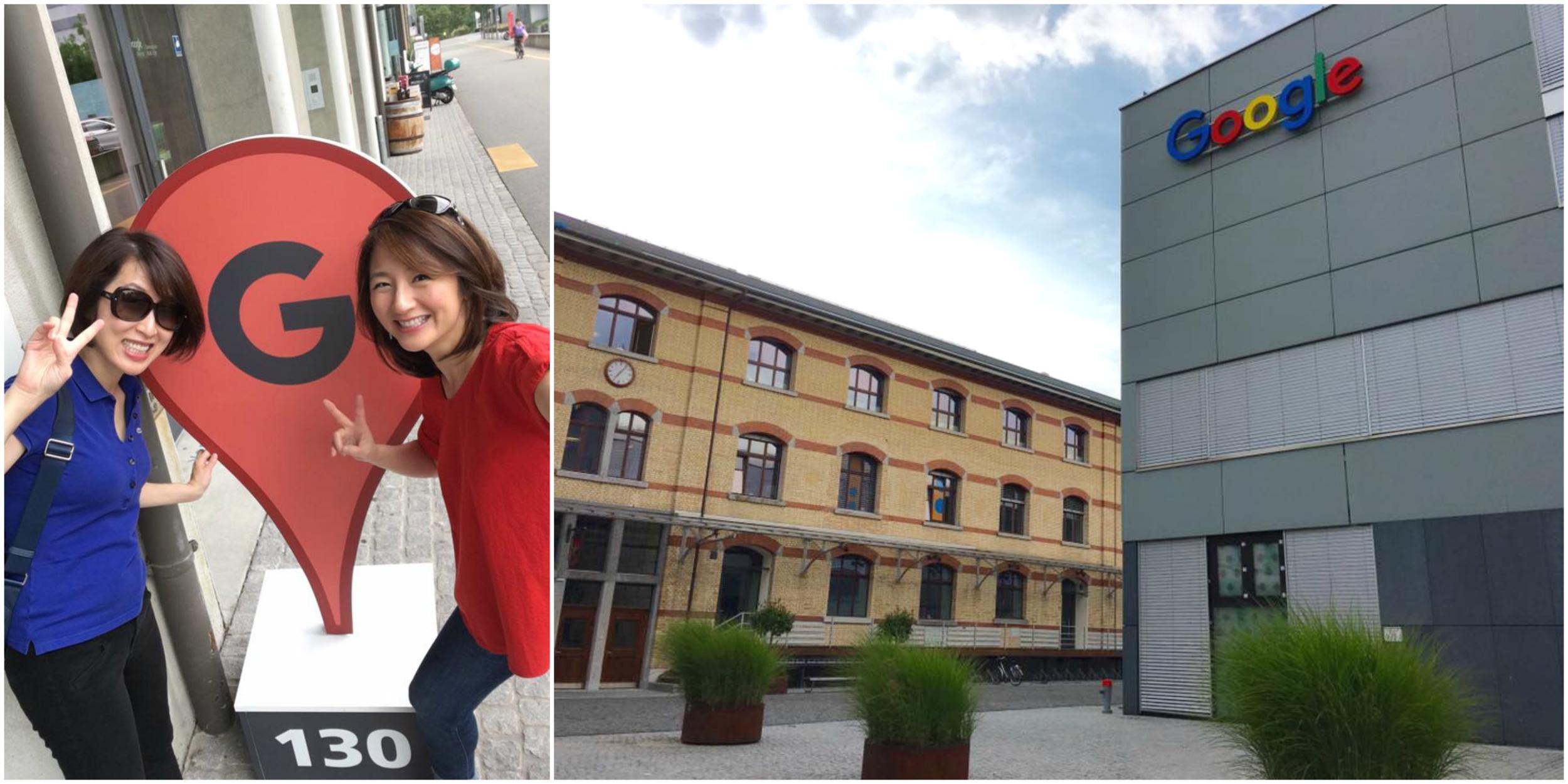 Swinging by Google's European engineering hub with sis!/© Eileen Hsieh