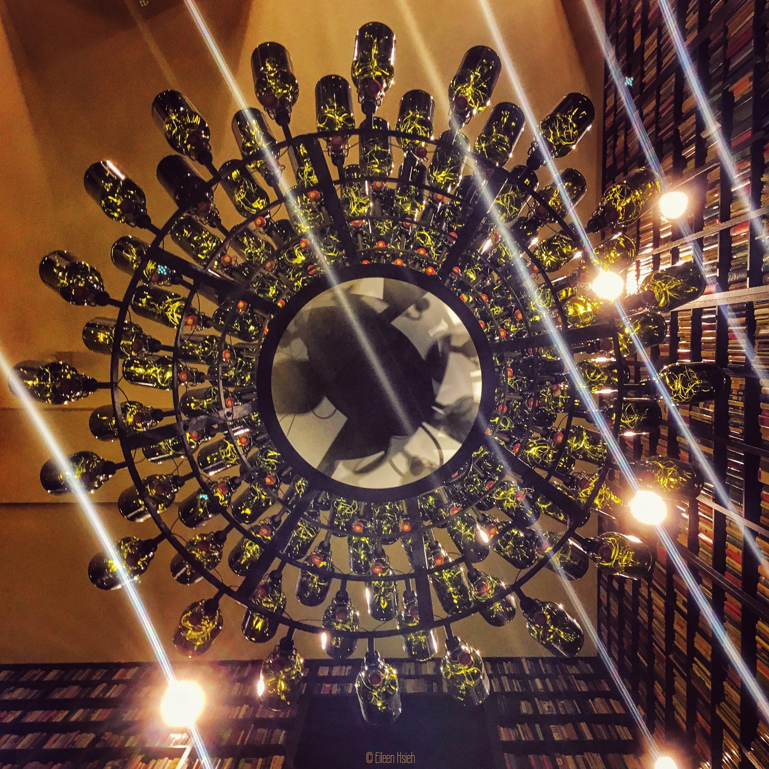 Look up, it's a beer bottle chandelier./© Eileen Hsieh