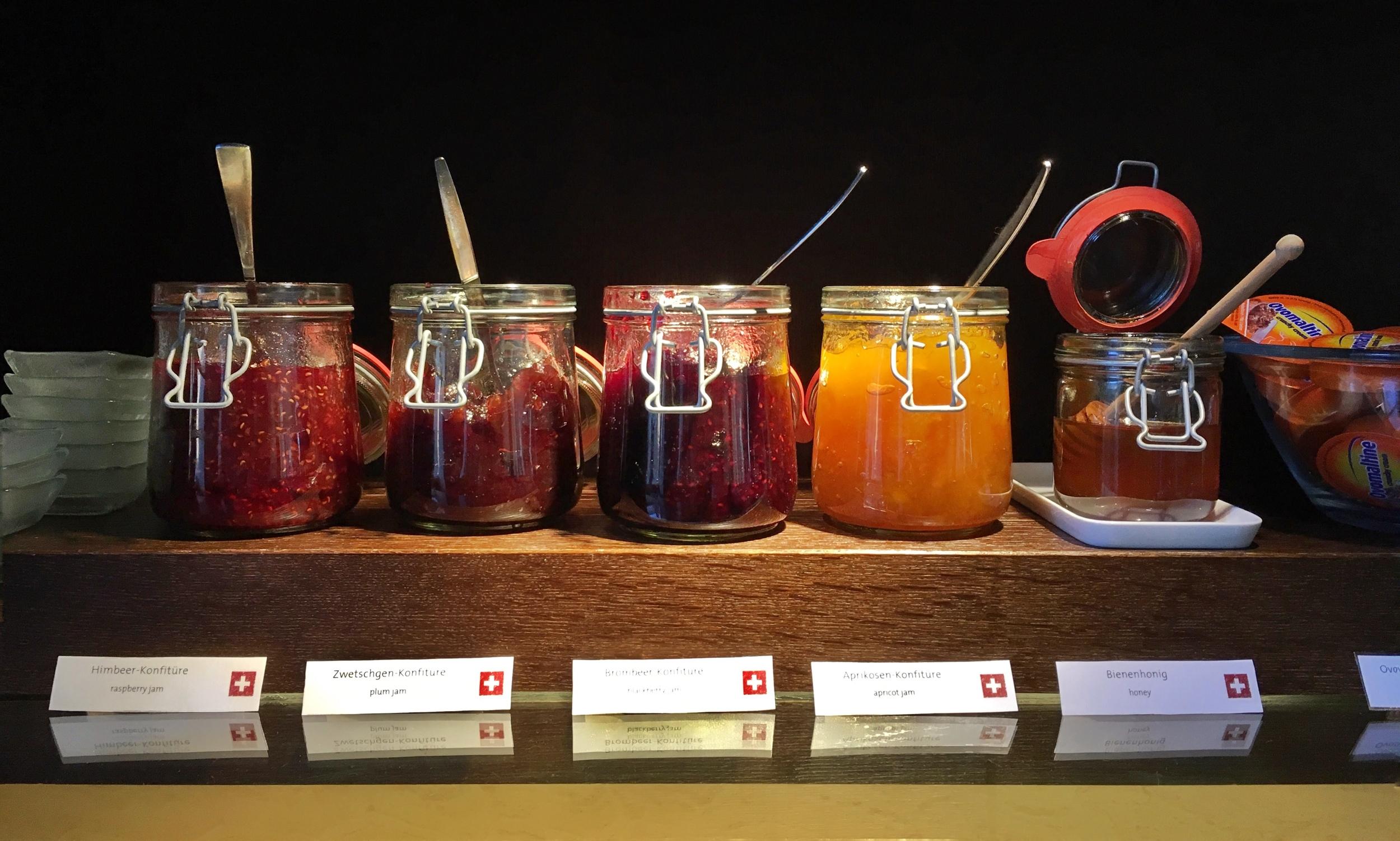 Swiss jams./© Eileen Hsieh