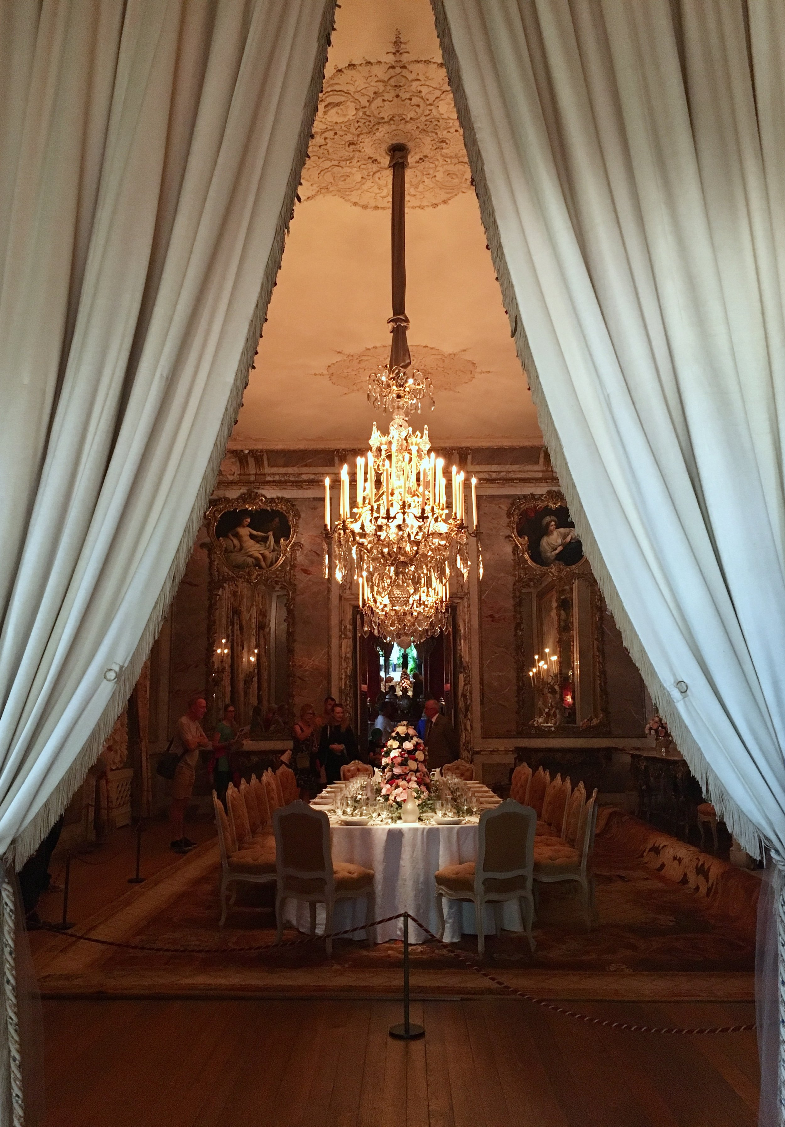UK Waddesdon Manor Dining Room curtain National Trust French Chateau Rothschild Buckinghamshire garden chateau Eileen Hsieh Follow That Bug .jpg