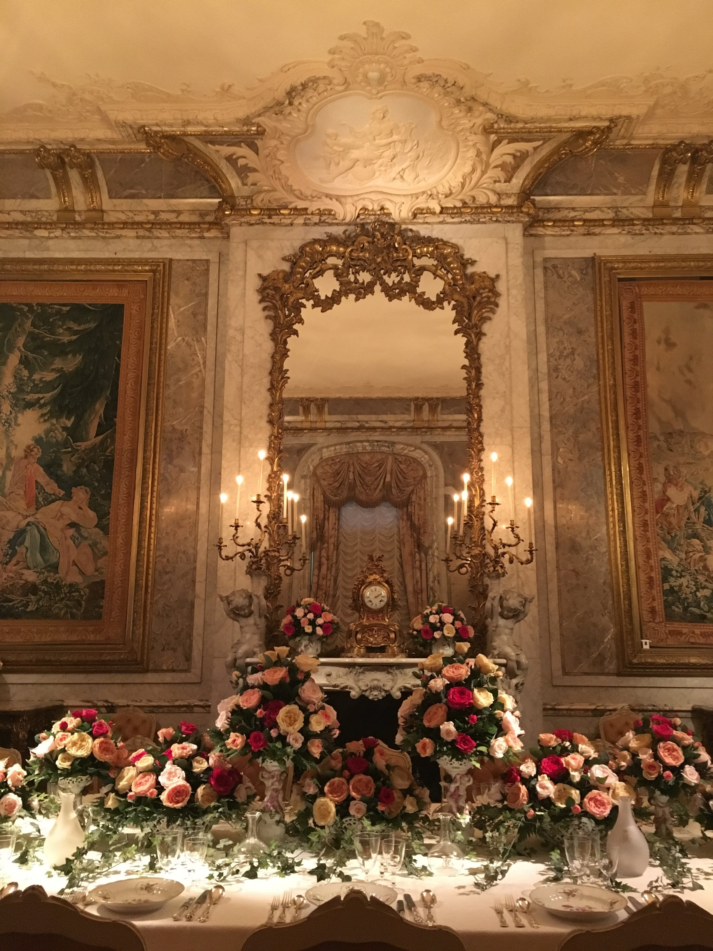 UK Waddesdon Manor dining room mirror National Trust French Chateau Rothschild Buckinghamshire garden chateau Eileen Hsieh Follow That Bug .jpg