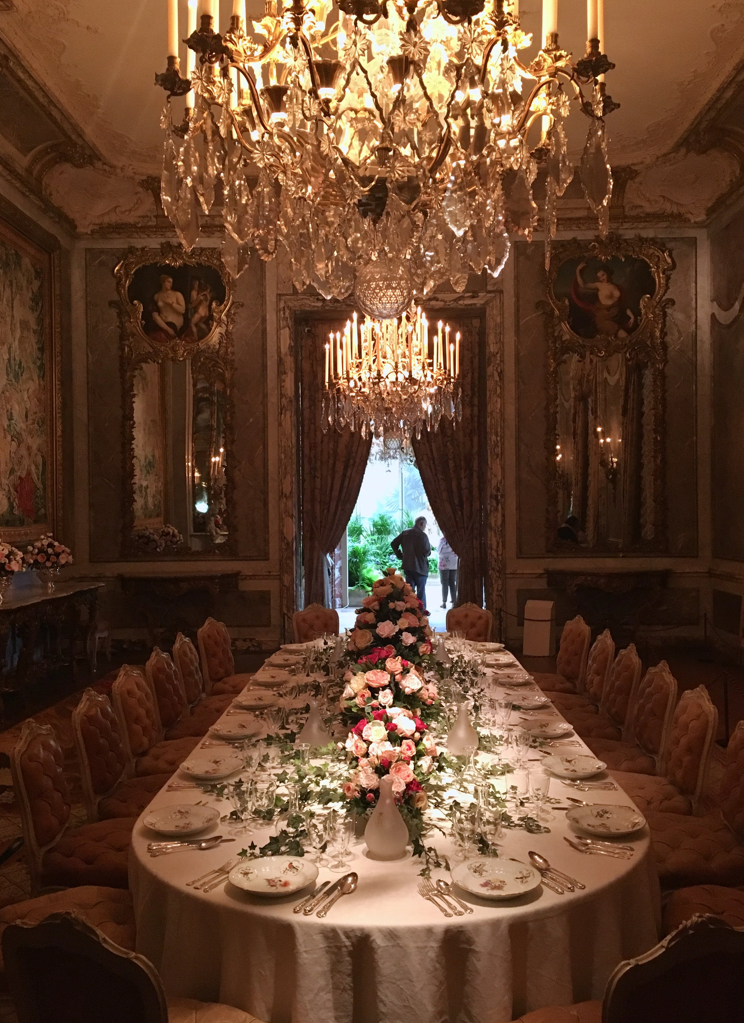 UK Waddesdon Manor dining room table National Trust French Chateau Rothschild Buckinghamshire garden chateau Eileen Hsieh Follow That Bug .jpg